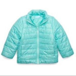 Lightning Bug Jackets & Coats - NWT Toddler Girls Aqua Puffer Jacket